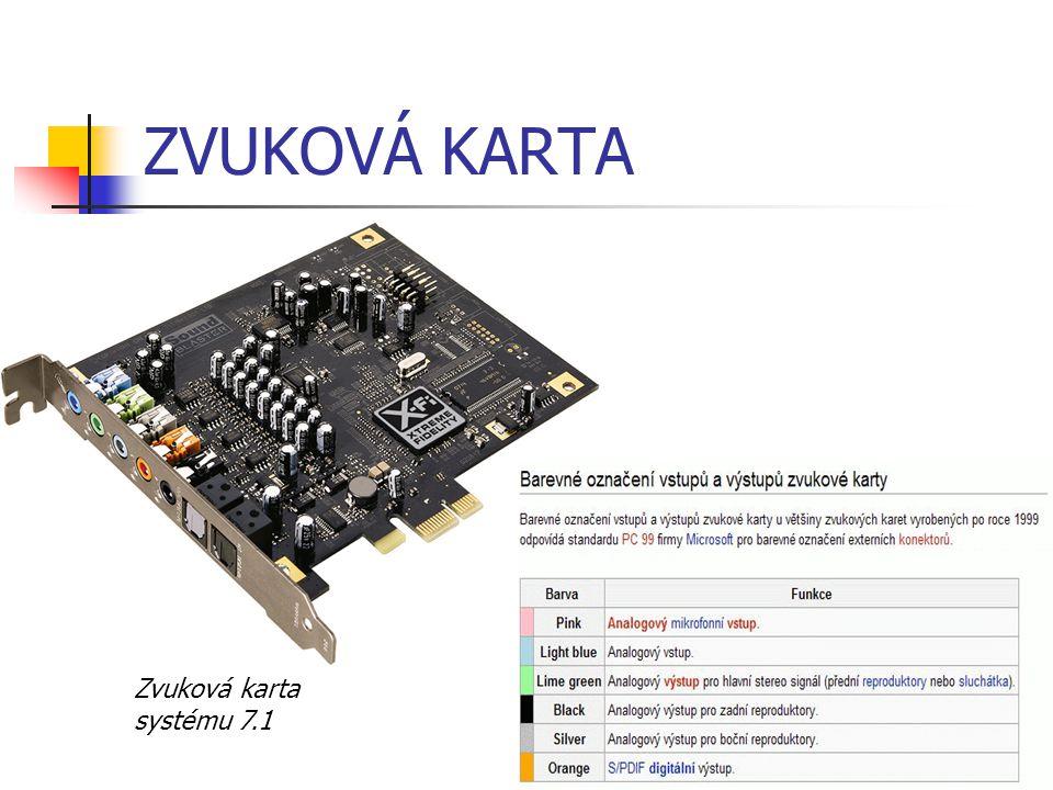 ZVUKOVÁ KARTA Zvuková karta systému 7.1