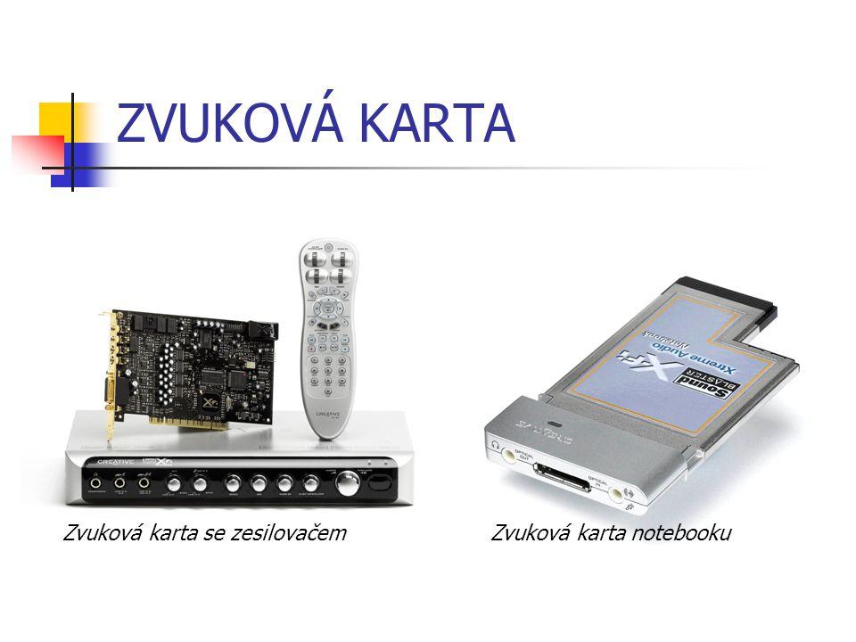 ZVUKOVÁ KARTA Zvuková karta se zesilovačemZvuková karta notebooku