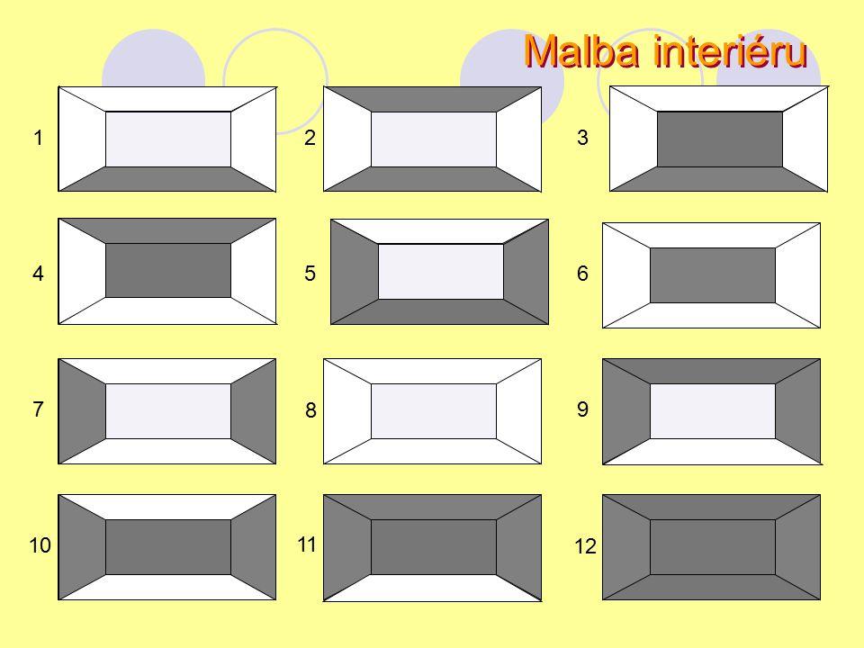 Malba interiéru 123 4 7 10 5 11 8 6 9 12