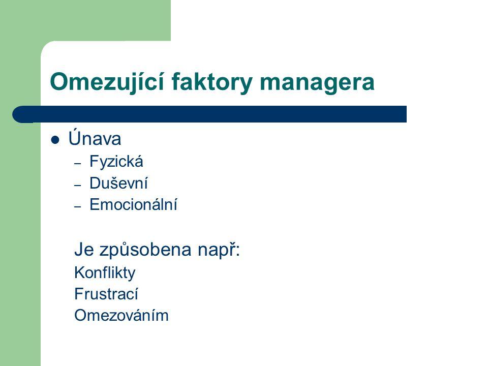 Zdroje HRON, J.: Teorie řízení, ČZU v Praze, 2007 PACOVSKÝ, P.: Člověk a čas, Time expert, 2000 www.wikipedie.cz