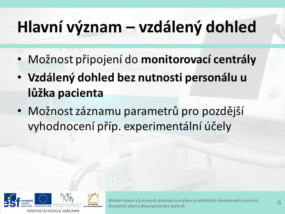 Modernizace výukových postupů a zvýšení praktických dovedností a návyků studentů oboru Biomedicínský technik Legislativa 7