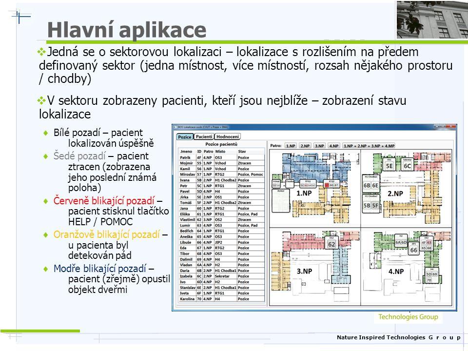 Nature Inspired Technologies G r o u p Hlavní aplikace  Jedná se o sektorovou lokalizaci – lokalizace s rozlišením na předem definovaný sektor (jedna