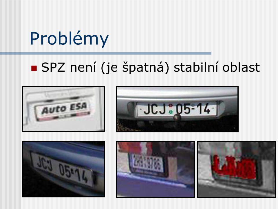 Problémy SPZ není (je špatná) stabilní oblast