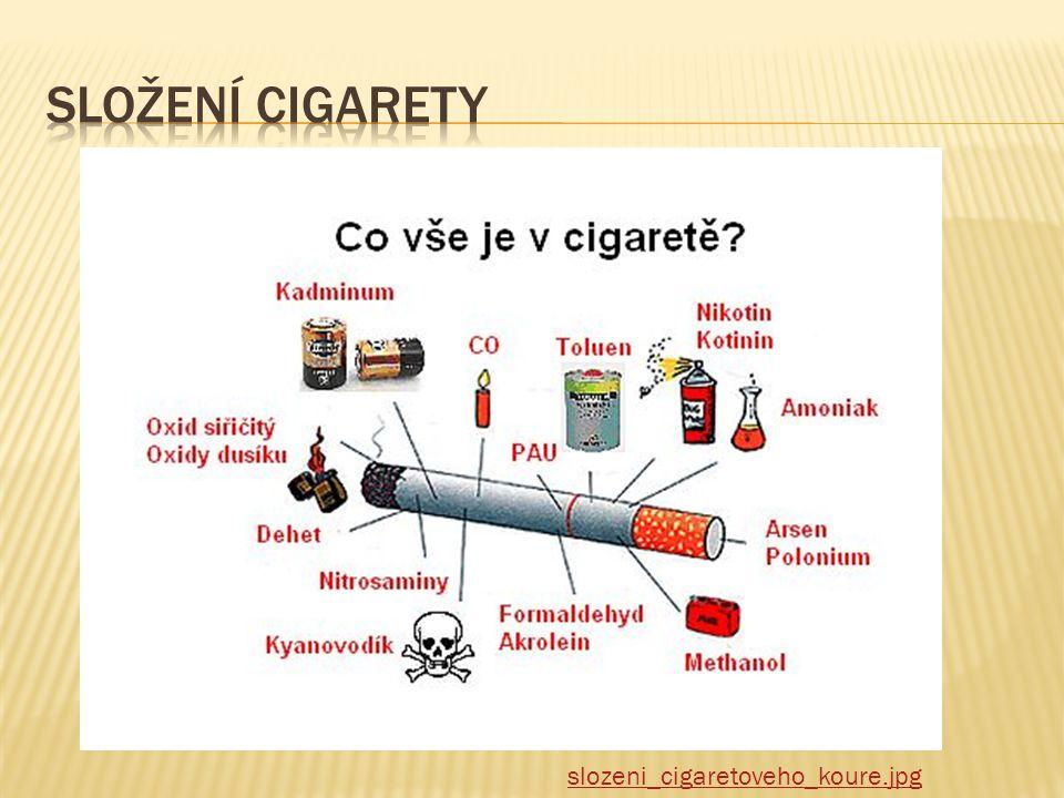  Vdechování tabákového kouře  Je to nemoc, umírá se na ní  Je to závislost, lze léčit  Aktivní – kuřák  Pasivní – pobyt v zakouřeném prostředí
