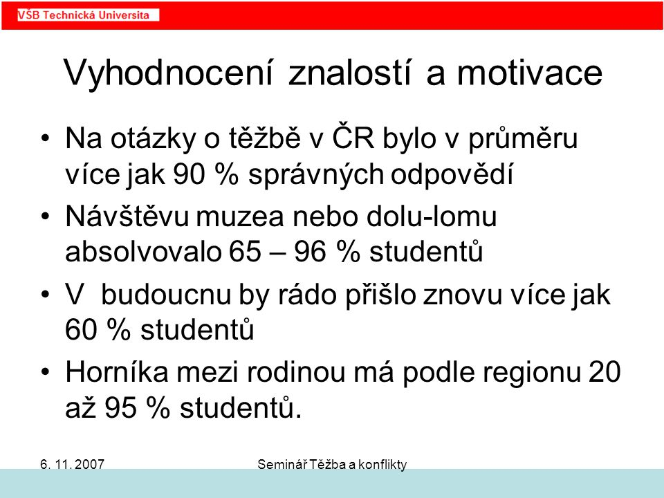 Seminář Těžba a konflikty6. 11.