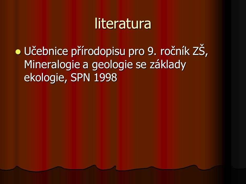 literatura Učebnice přírodopisu pro 9.