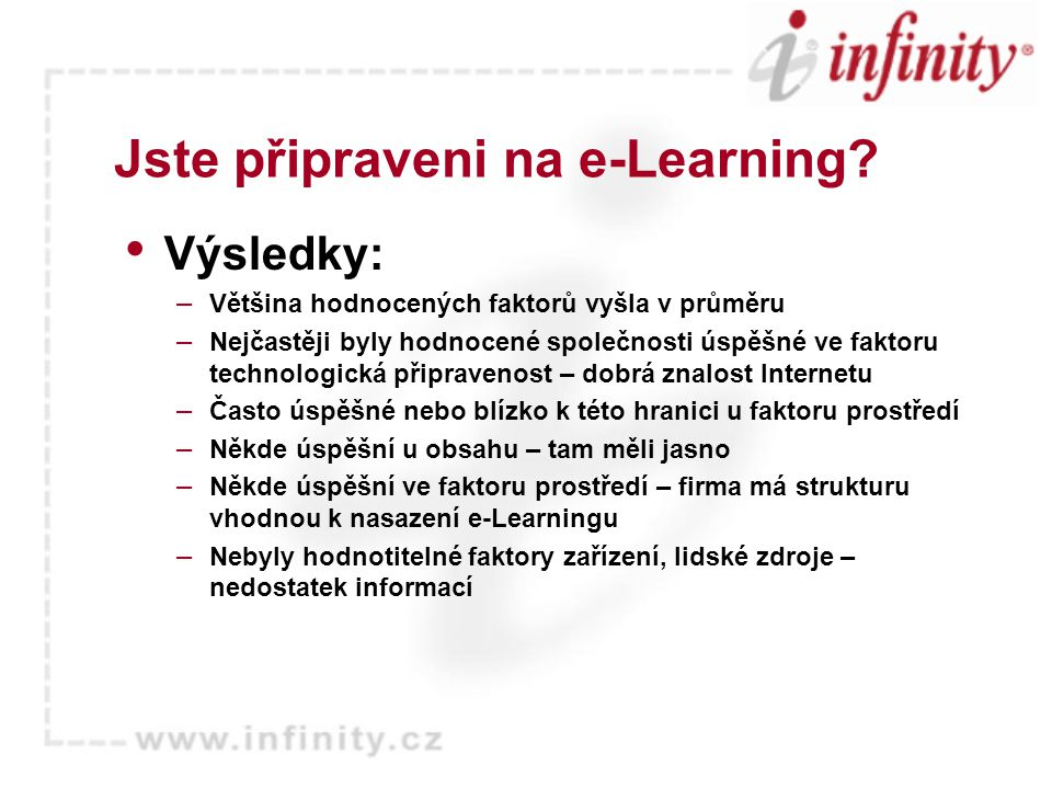 Jste připraveni na e-Learning.