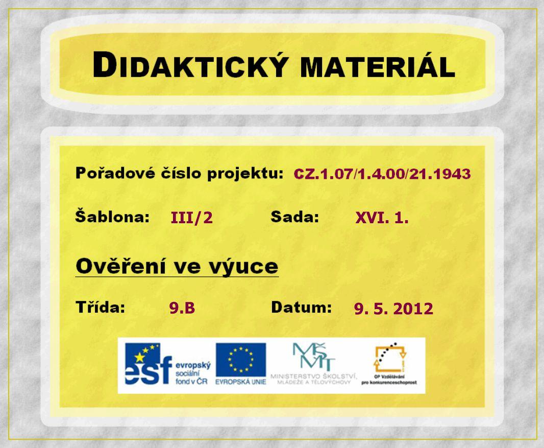 III/2 9.B XVI. 1. 9. 5. 2012