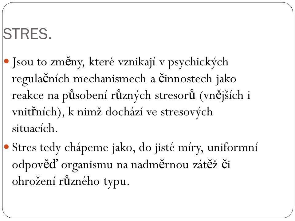 TYPY STRESŮ.Intenzita stresové reakce: 1.