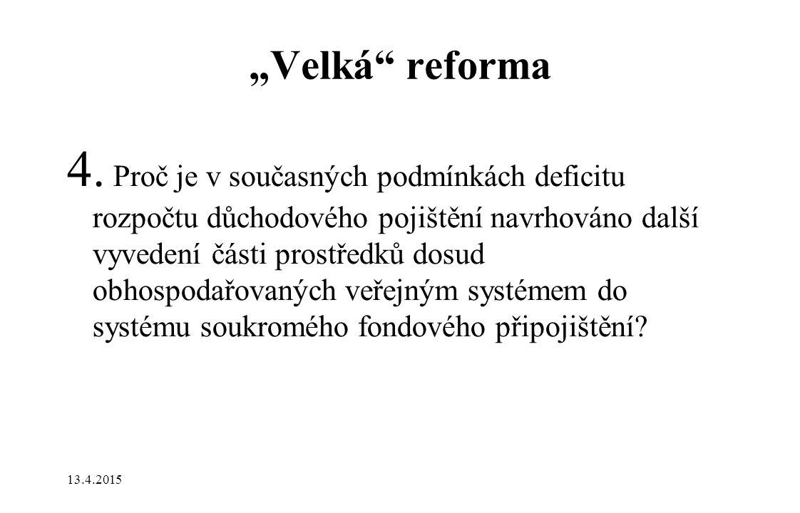 """""""Velká reforma 4."""