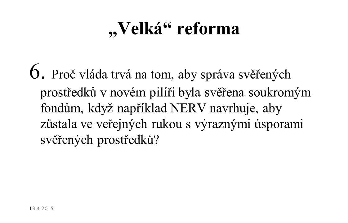 """""""Velká reforma 6."""
