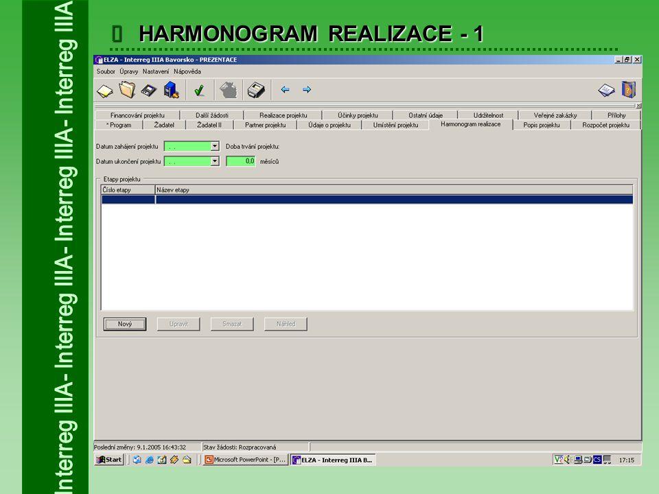  HARMONOGRAM REALIZACE - 1