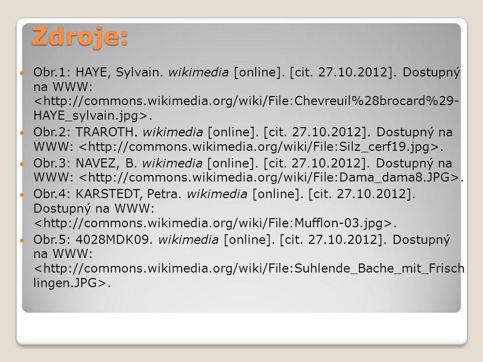 Zdroje: Obr.1: HAYE, Sylvain. wikimedia [online]. [cit. 27.10.2012]. Dostupný na WWW:. Obr.2: TRAROTH. wikimedia [online]. [cit. 27.10.2012]. Dostupný