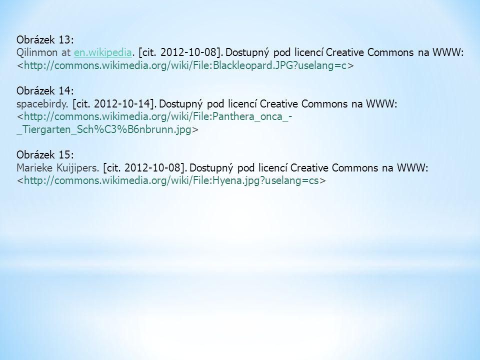 Obrázek 13: Qilinmon at en.wikipedia. [cit. 2012-10-08]. Dostupný pod licencí Creative Commons na WWW: en.wikipedia Obrázek 14: spacebirdy. [cit. 2012