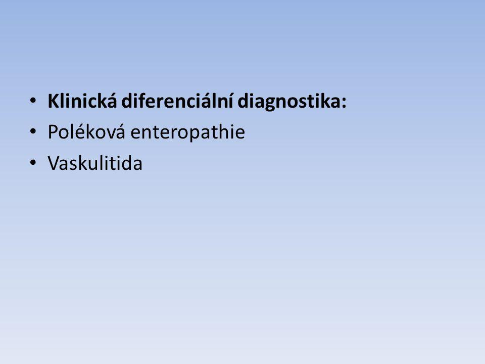 Klinická diferenciální diagnostika: Poléková enteropathie Vaskulitida