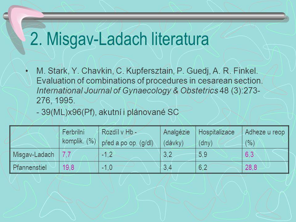 2.Misgav-Ladach literatura M. Stark, Y. Chavkin, C.