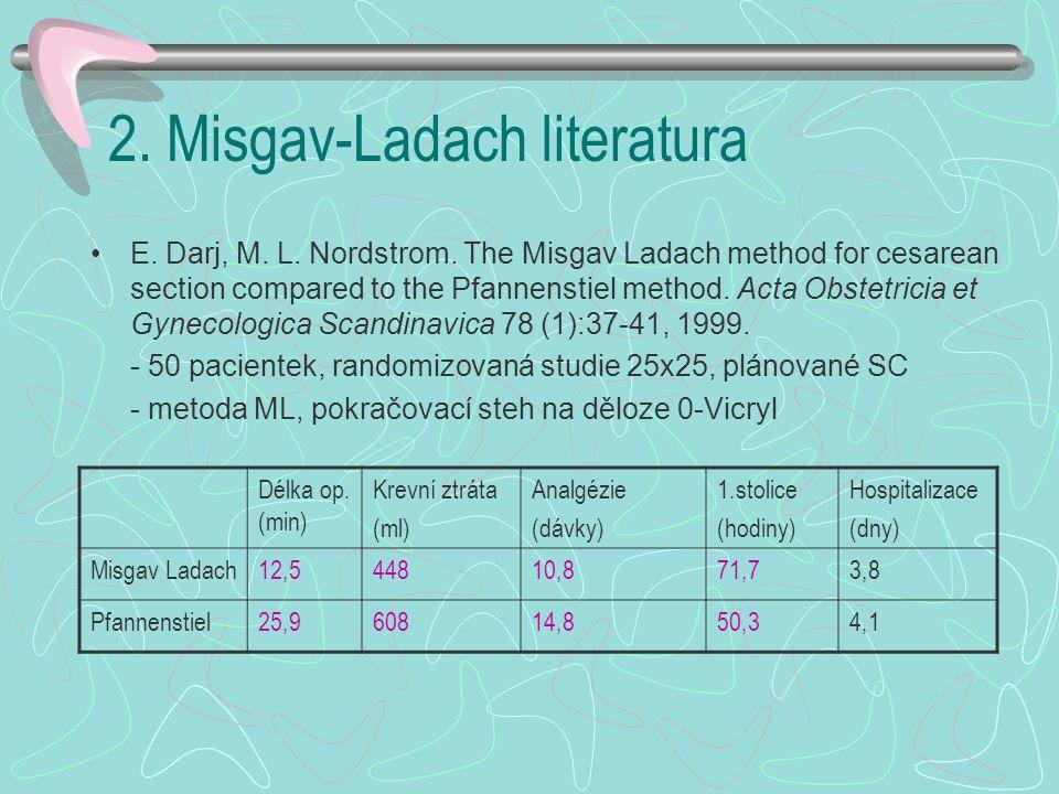2.Misgav-Ladach literatura E. Darj, M. L. Nordstrom.