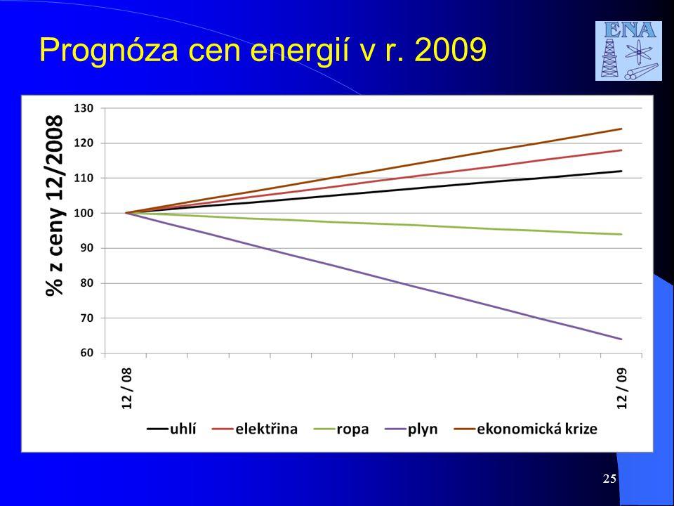 25 Prognóza cen energií v r. 2009