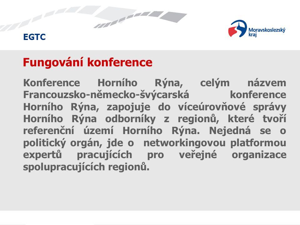 EGTC Fungování konference Konference Horního Rýna, celým názvem Francouzsko-německo-švýcarská konference Horního Rýna, zapojuje do víceúrovňové správy