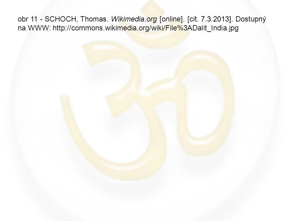 obr 11 - SCHOCH, Thomas. Wikimedia.org [online]. [cit. 7.3.2013]. Dostupný na WWW: http://commons.wikimedia.org/wiki/File%3ADalit_India.jpg
