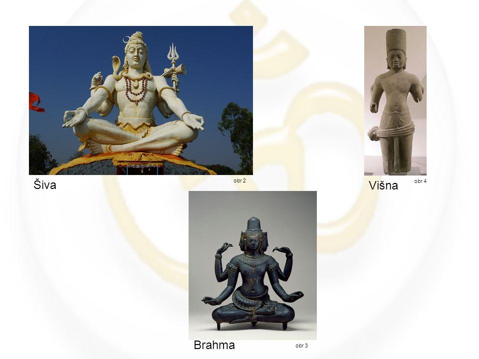 obr 2 Šiva Brahma obr 3 Višna obr 4