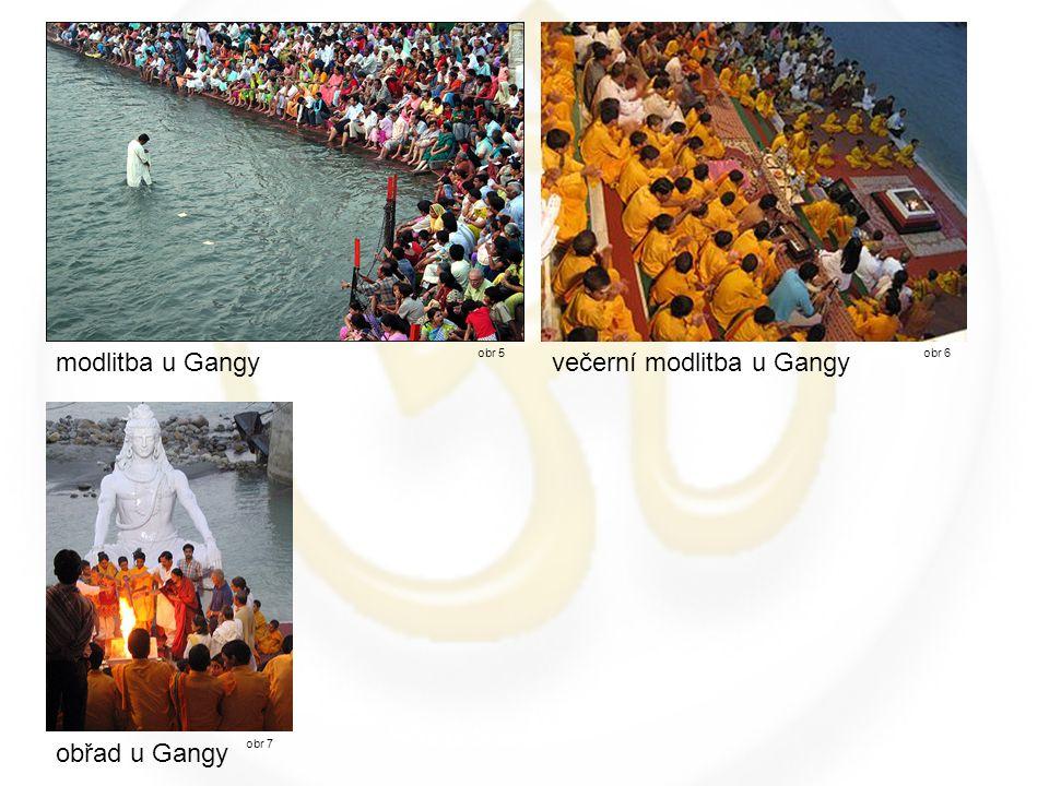 modlitba u Gangy obr 5obr 6 večerní modlitba u Gangy obřad u Gangy obr 7