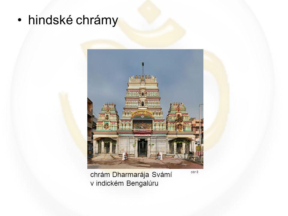 hindské chrámy obr 8 chrám Dharmarája Svámí v indickém Bengalúru