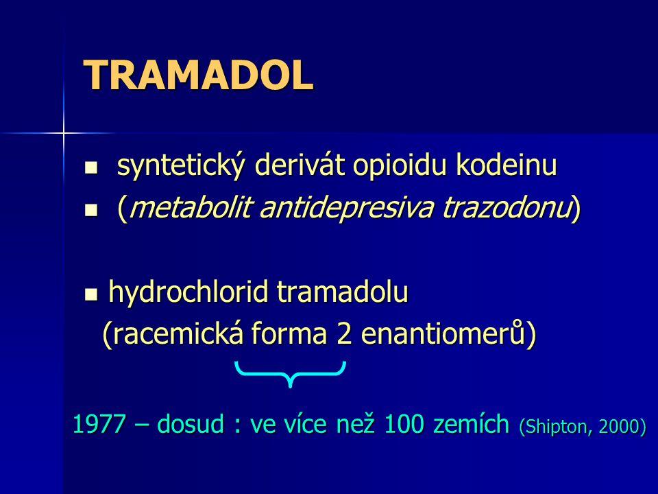 Podle VAS (vizuálně analogové škály hodnocení bolesti) a třístupňového analgetického žebříčku WHO slabé opioidy (tramadol): VAS 4 – 7 II.