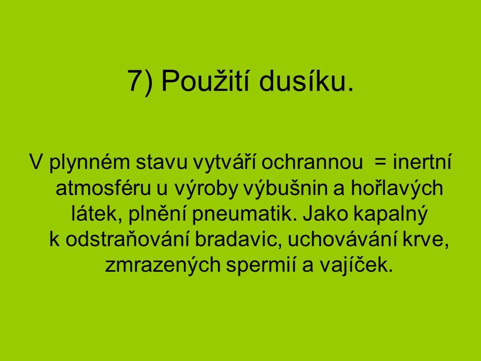 8) Vlastnosti kyslíku.
