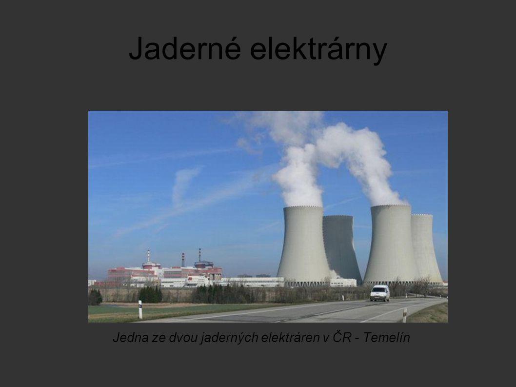 Jaderné elektrárny Jedna ze dvou jaderných elektráren v ČR - Temelín