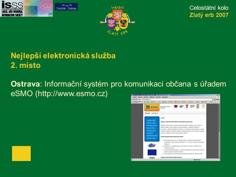 Celostátní kolo Zlatý erb 2007 Nejlepší elektronická služba 2.
