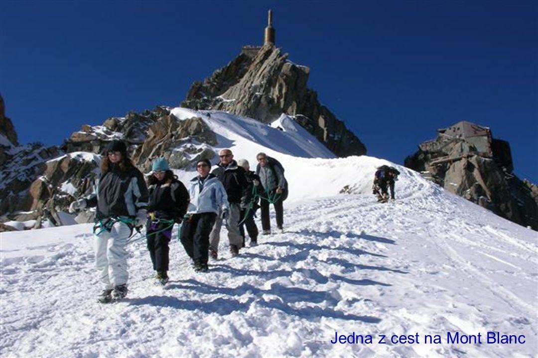 Nejvyšší hora Alp a států EU Mont Blanc 4 810 m