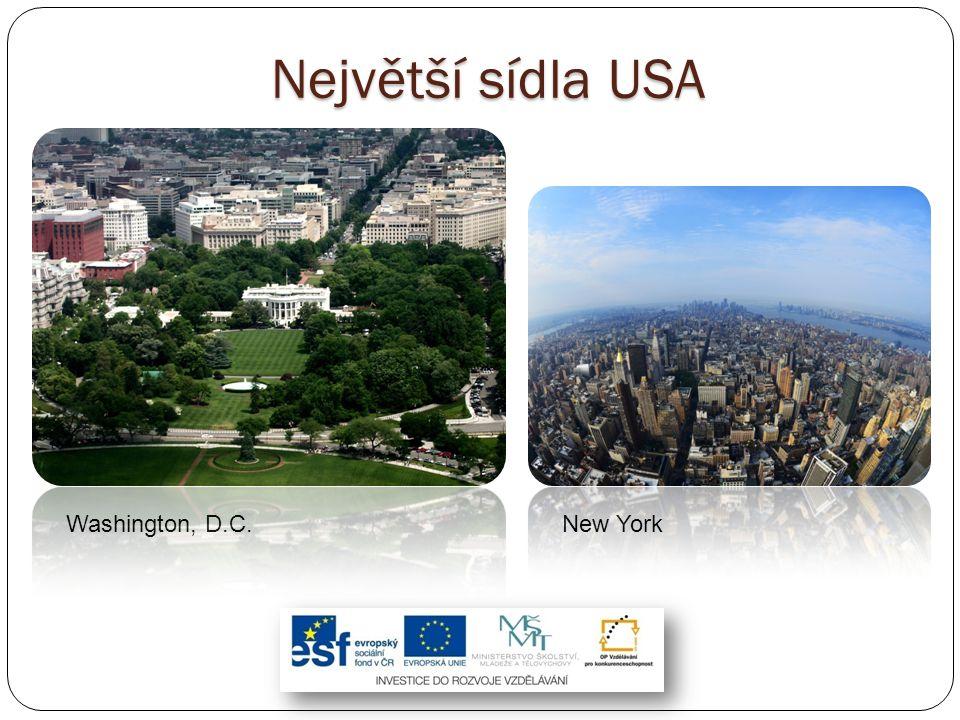 Největší sídla USA Washington, D.C.New York