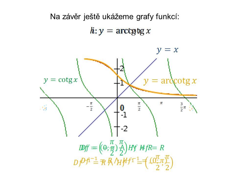 Na závěr ještě ukážeme grafy funkcí: