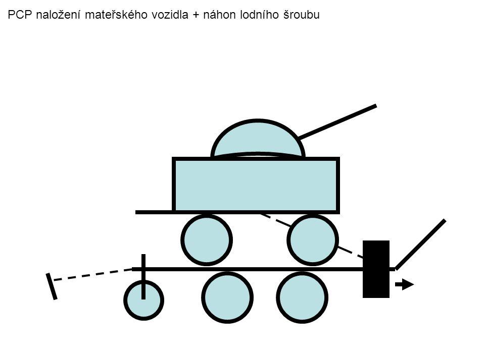 PCP naložení mateřského vozidla + náhon lodního šroubu