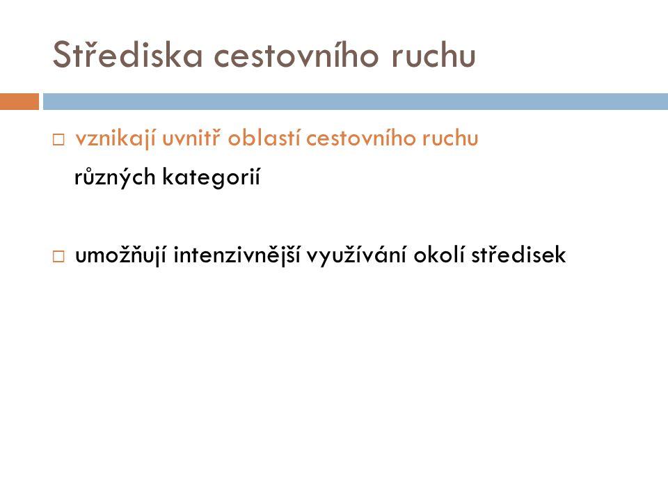 Střediska CR mají různá zaměření:  1.střediska lázeňská  2.