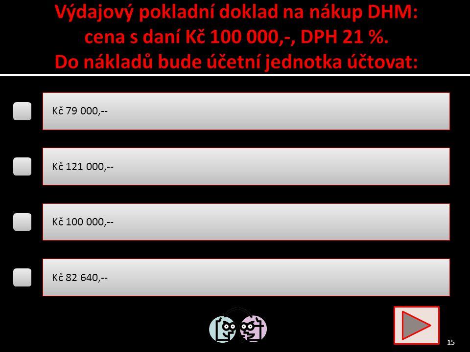 FAP za přepravu DHM….. MD 518 Ostatní služby / D 321 Dodavatelé Zařazení DHM do užívání …..