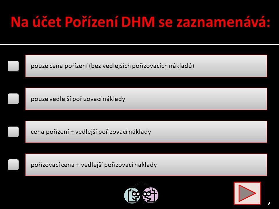 hodnotu dosud nezařazeného majetku do DHM DHM pořízený od zahraničního dodavatele tento účet nemůže mít zůstatek hodnotu dosud neuhrazeného pořízeného dlouhodobého majetku 8