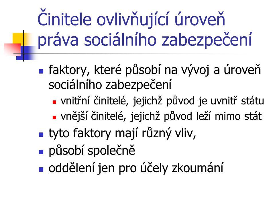 """Formy sociálního zabezpečení - pokračování žádný systém SZ není """"čistý , tj."""