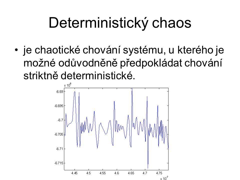 Deterministický chaos je chaotické chování systému, u kterého je možné odůvodněně předpokládat chování striktně deterministické.