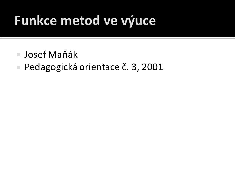  Josef Maňák  Pedagogická orientace č. 3, 2001
