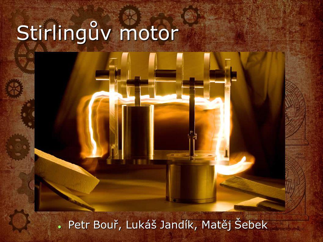 m s Stirlingův motor Petr Bouř, Lukáš Jandík, Matěj Šebek Petr Bouř, Lukáš Jandík, Matěj Šebek
