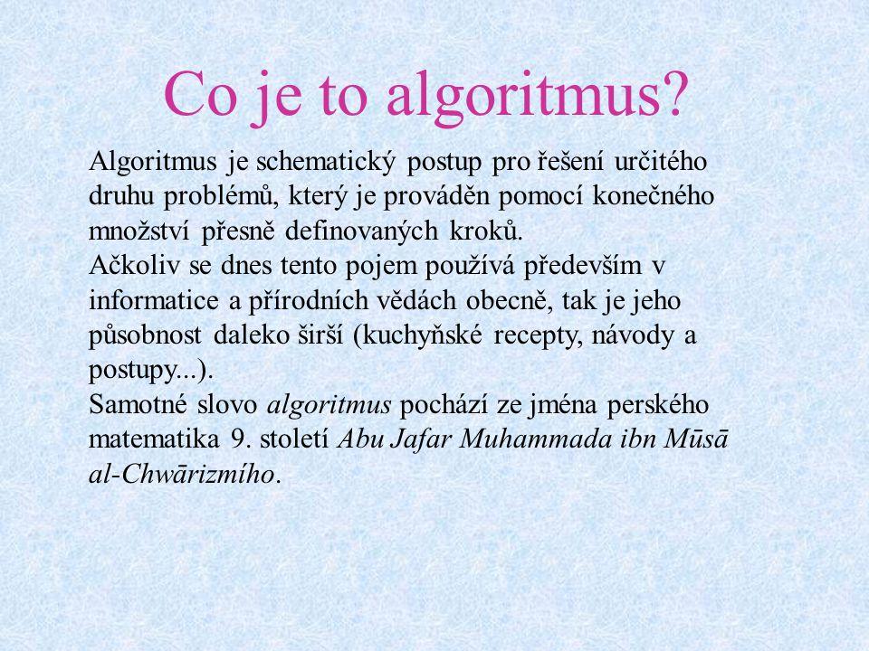Co je to algoritmus.