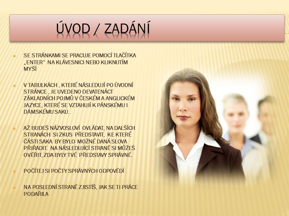 VÝUKOVÝ PROGRAM PRO STŘEDNÍ ŠKOLY ODĚVNÍ EVA HRABALOVÁ 2008