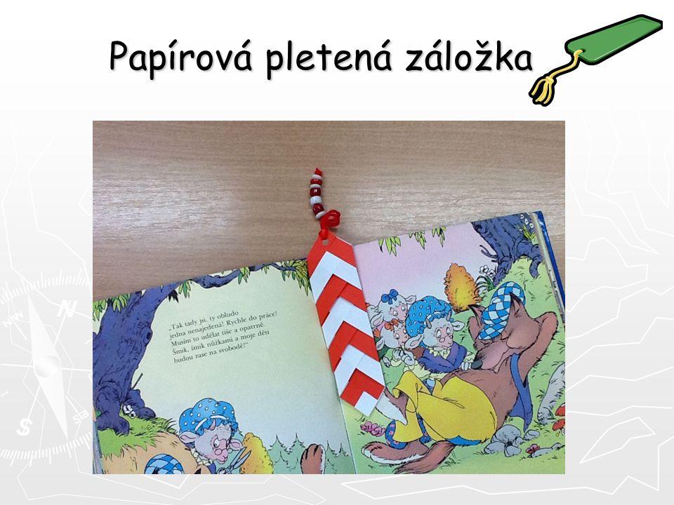 Dva listy barevného papíru Lepidlo Nůžky Bavlnku Korálky Budeme potřebovat: