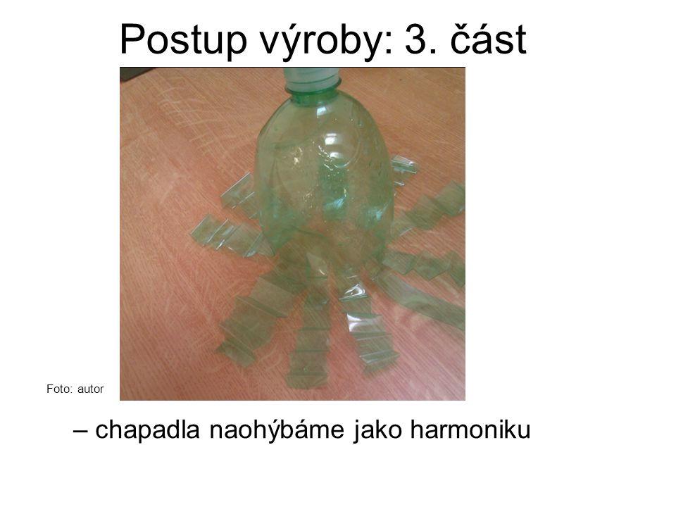 Postup výroby: 3. část – chapadla naohýbáme jako harmoniku Foto: autor