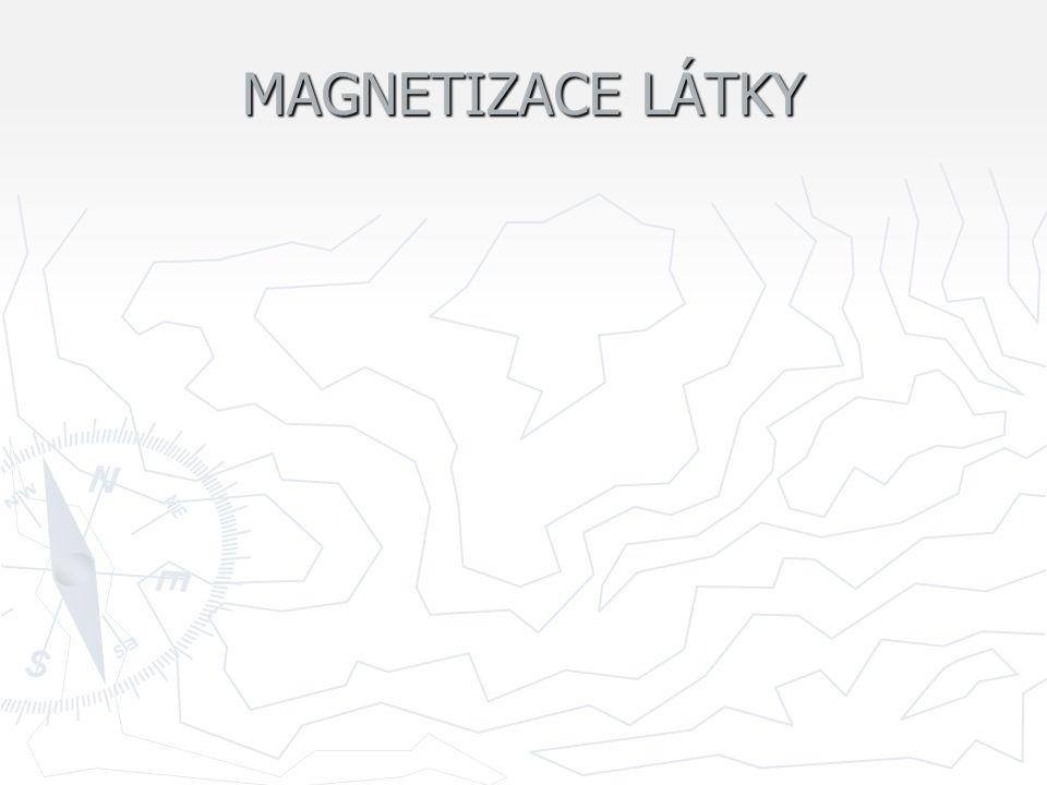 MAGNETIZACE LÁTKY
