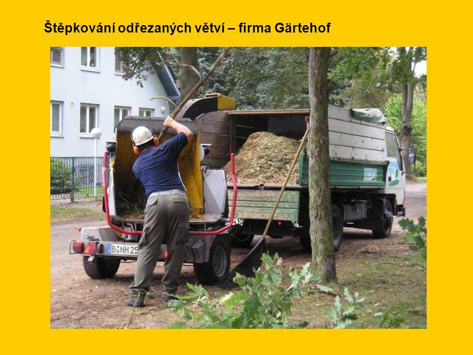 Štěpkování odřezaných větví – firma Gärtehof