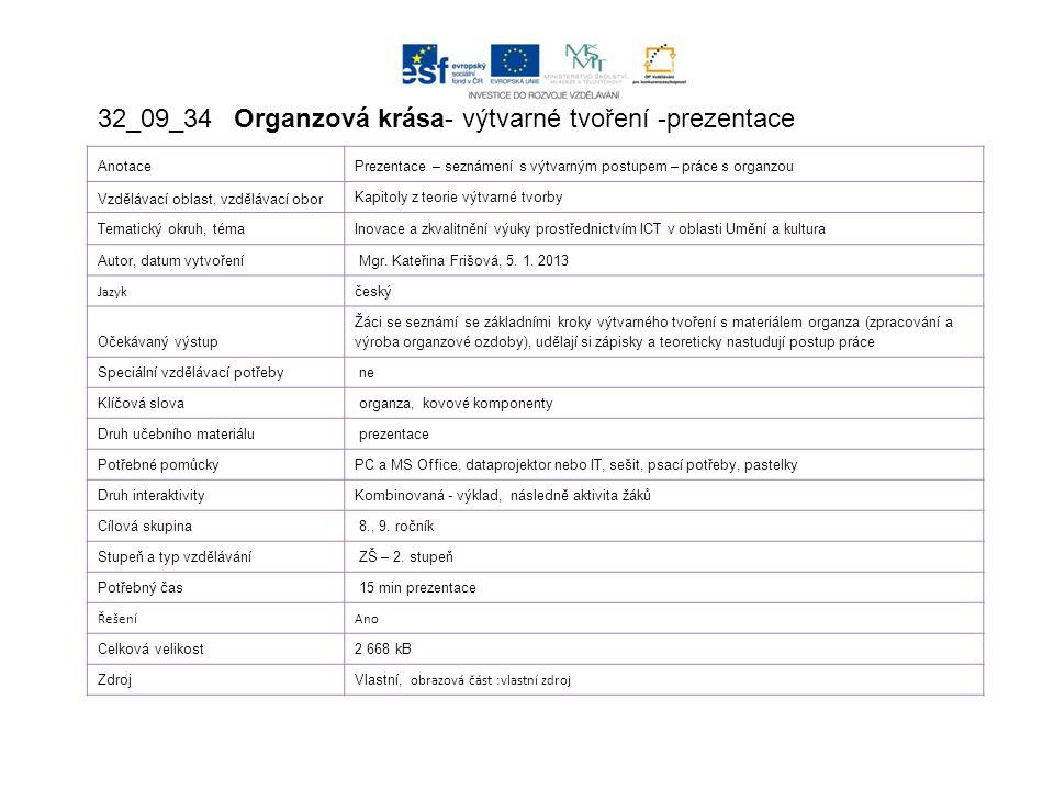 ORGANZOVÁ KVĚTINA - PRSTEN Vytvořeno v rámci projektu EU peníze školám – Základní škola Ústí nad Labem, Vojnovičova 620/5, příspěvková organizace