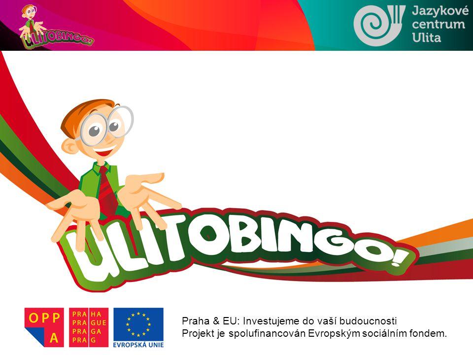 Praha & EU: Investujeme do vaší budoucnosti Projekt je spolufinancován Evropským sociálním fondem.